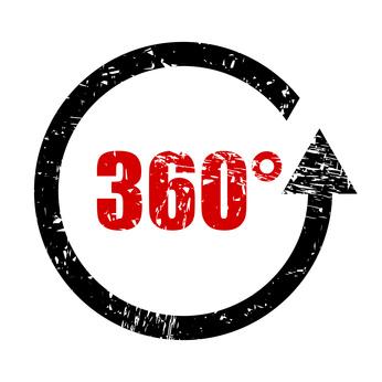 stempel eckig 360 grad I