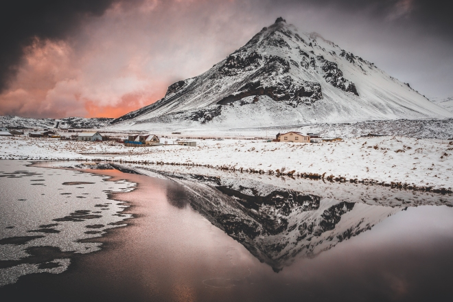Arnastarpi Mountain Reflection