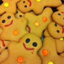 Abstract with Gingerbread men