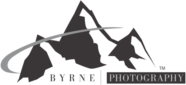 Byrne Photography Mountain Logo Faded
