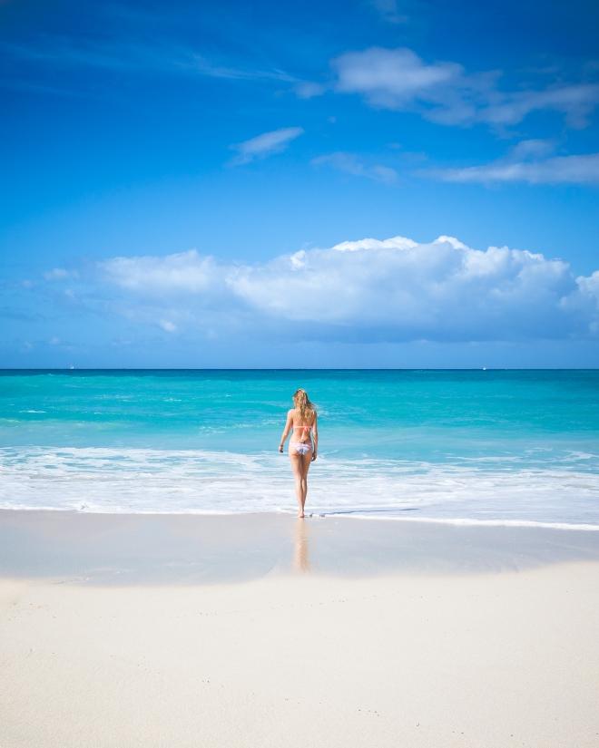 Lady On Paradise Beach Portrait