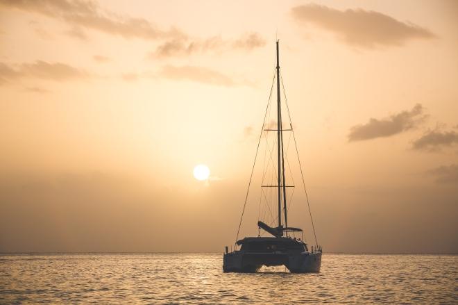 Sunset Boat Sq