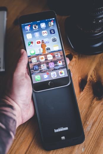 Slide phone inside of case