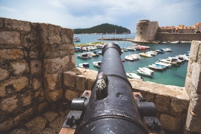 Old canons around the fort