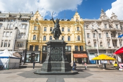 The centre square in Zagreb