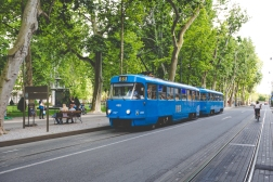 Zagreb's famous Blue Trams