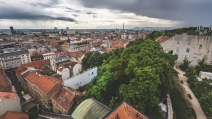 View overlooking Zagreb from upper town