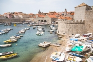 The old town Dubrovnik harbour.