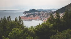 Through the trees to Dubrovnik.