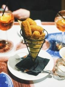Mozeralla Fritters.