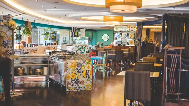 The Sheraton Roma Hotel AQVI Restaurant.