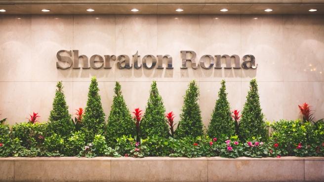 The Sheraton Roma Hotel.