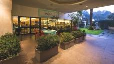 Outside AQVI Restaurant..