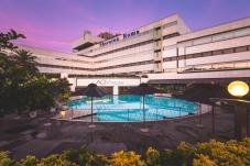 The Sheraton Roma Hotel Pool Area.