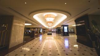 The Sheraton Roma Hotel Lobby.