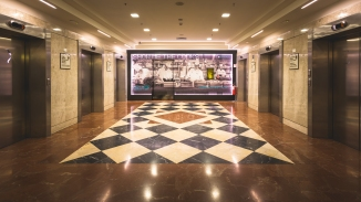 The Sheraton Roma Hotel Lifts.