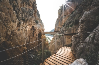 The suspension bridge in Caminito del Rey.