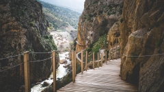 Winding Caminito del Rey Walkways.
