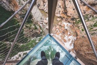 Caminito del Rey glass floor.