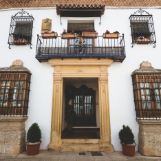 Typical houses in Ronda.